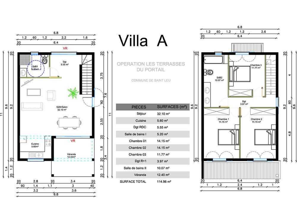 Villa F4 neuve à vendre – Piton Saint-Leu